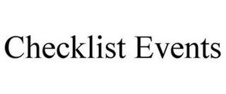 CHECKLIST EVENTS