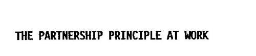 THE PARTNERSHIP PRINCIPLE AT WORK