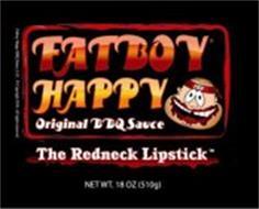 FATBOY HAPPY ORIGINAL BBQ SAUCE THE REDNECK LIPSTICK