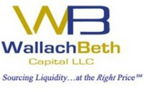 WB WALLACHBETH CAPITAL LLC SOURCING LIQUIDITY... AT THE RIGHT PRICE