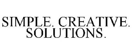 SIMPLE. CREATIVE. SOLUTIONS.