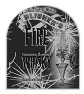 THE KING OF WHISKIES BLISHEN'S FIRE CINNAMON FLAVOURED WHISKY HANDCRAFTED 35% ALC. BY VOL. (70 PROOF) 750 ML
