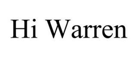 HI WARREN