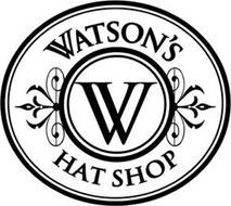 WATSON'S HAT SHOP W