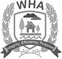 WHA INTEGRITY, EFFICIENCY, PURPOSE