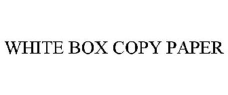 WHITE BOX COPY PAPER