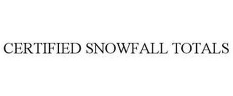 CERTIFIED SNOWFALL TOTALS
