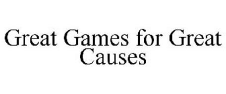 GREAT GAMES FOR GREAT CAUSES