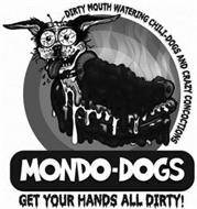 MONDO-DOGS GET YOUR HANDS ALL DIRTY! DIRTY MOUTH WATERING CHILI-DOGS AND CRAZY CONCOCTIONS