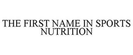 THE FIRST NAME IN SPORTS NUTRITION