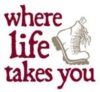 WHERE LIFE TAKES YOU (BOOT ICON)