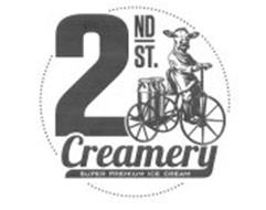 2ND ST. CREAMERY SUPER PREMIUM ICE CREAM