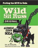 PUTTING THE BITE IN SODA WILD SIT RUSS ORIGINAL ALCOHOLIC CITRUS SODA 12 FL. OZ 4.5% ALC/VOL PREMIUM MALT BEVERAGE WITH NATURAL FLAVOR AND FD&C YELLOW #5