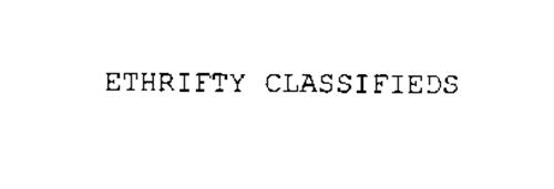 ETHRIFTY CLASSIFIEDS
