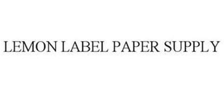 LEMON LABEL PAPER SUPPLY