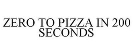 ZERO TO PIZZA IN 200 SECONDS