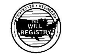 THE WILL REGISTRY PROTECTED.RECORDED