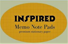 INSPIRED MEMO NOTE PADS PREMIUM STATIONARY PAPER