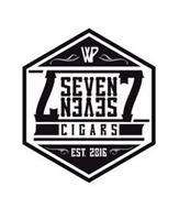 WP 7 SEVEN SEVEN 7 CIGARS EST. 2016