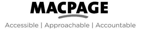 MACPAGE ACCESSIBLE APPROACHABLE ACCOUNTABLE