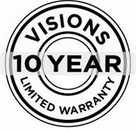 VISIONS 10 YEAR LIMITED WARRANTY