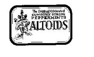 THE ORIGINAL CELEBRATED CURIOUSLY STRONG PEPPERMINTS ALTOIDS