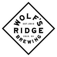 WOLF'S RIDGE BREWING EST. 2013 COLS. OH