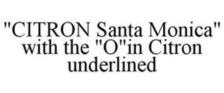"""""""CITRON SANTA MONICA"""" WITH THE """"O""""IN CITRON UNDERLINED"""