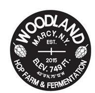 WOODLAND HOP FARM & FERMENTATION MARCY, N.Y. EST. 2015 ELEV. 749 FT. 43º9'N, 75º12'W