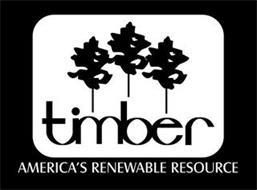 TIMBER AMERICA'S RENEWABLE RESOURCE