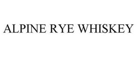 ALPINE RYE WHISKEY