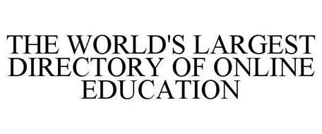 THE WORLD'S LARGEST DIRECTORY OF ONLINE EDUCATION
