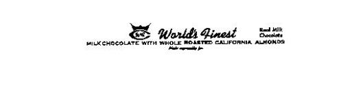 WORLD'S FINEST WFC MILK CHOCOLATE CALIFORINA ALMONDS REAL MILK CHOCOLATE MADE ESPECIALLY FOR
