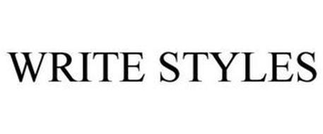 WRITE STYLES