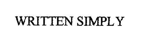 WRITTEN SIMPLY