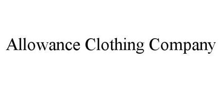 ALLOWANCE CLOTHING COMPANY