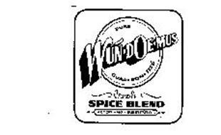 WUN-DOE-MUS PURE GUAA-RON-TEED CREOLE SPICE BLEND ACCEPT-NO-SUBSTITUTES
