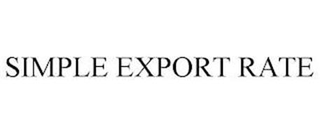 SIMPLE EXPORT RATE