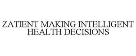 ZATIENT MAKING INTELLIGENT HEALTH DECISIONS