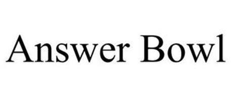 ANSWER BOWL