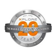 EST. 1996 XPLORE THE RUGGED TABLET AUTHORITY 20 YEARS