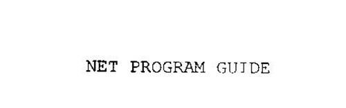 NET PROGRAM GUIDE
