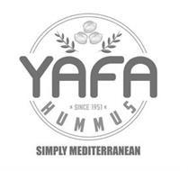 YAFA HUMMUS SIMPLY MEDITERRANEAN ·  SINCE 1951 ·