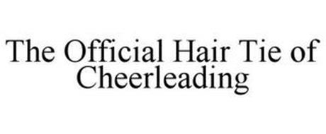 THE OFFICIAL HAIR TIE OF CHEERLEADING