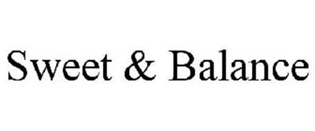 SWEET & BALANCE