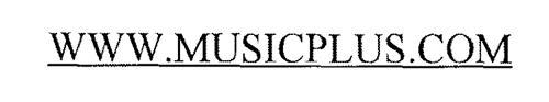 WWW.MUSICPLUS.COM