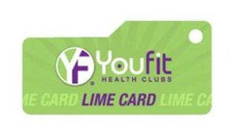 YF YOUFIT HEALTH CLUBS LIME CARD