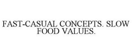FAST-CASUAL CONCEPTS. SLOW FOOD VALUES.