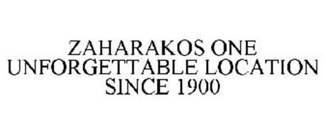 ZAHARAKOS ONE UNFORGETTABLE LOCATION SINCE 1900