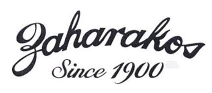 ZAHARAKOS SINCE 1900